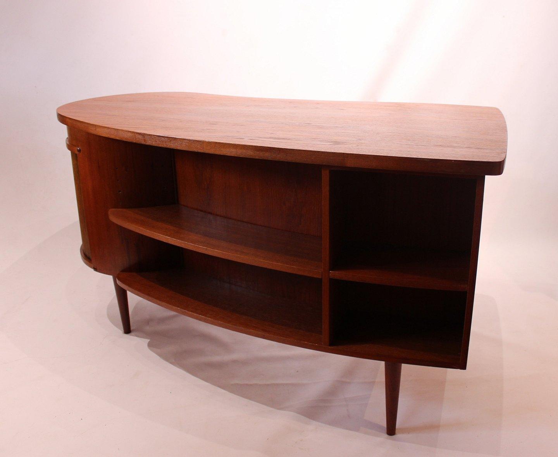 Picture of: Osted Antik Design Skrivebord Med Jalousilage Og Barskab Af Teak Designet Af Kai Kristiansen 500
